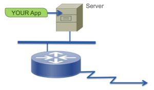 Remote router met server